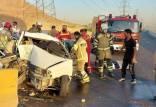 تصادف یک دستگاه خودرو پراید در اتوبان رستگاری ,تصادف