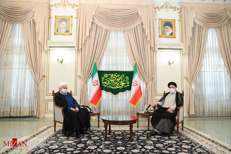 تصاویر دیدار روحانی با سید ابراهیم رئیسی,عکس های دیدار روحانی و رئیسی,تصاویر دیدار رئیس جمهور با رئیسی