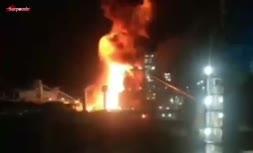 فیلم/ انفجار شدید و آتشسوزی در کارخانه فولاد زرند ایرانیان