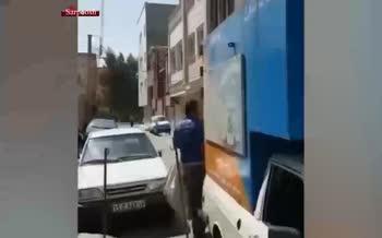 فیلم/ برخورد ماموران در شهر قم با جوان نان خشکی