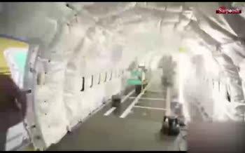فیلم/ خط تولید جالب هواپیمای مسافربری