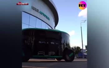 فیلم/ رونمایی از خودروی خودران الکتریکی FLIP در مسکو