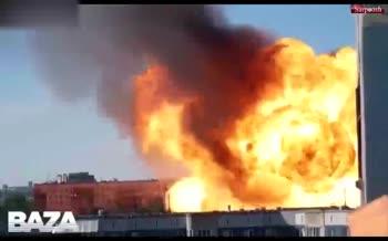 فیلم/ انفجار مهیب یک پمپ بنزین در روسیه