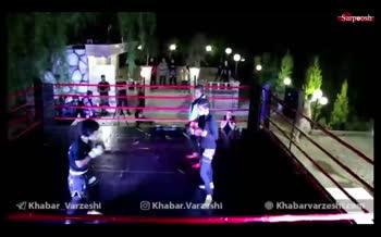 فیلم/ مبارزه شبانه دختران در رینگ MMA در باغی در اطراف شهریار