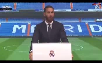 فیلم/ بغض سرخیو راموس در کنفرانس خداحافظی از رئال مادرید؛ هرگز و هرگز به بارسلونا نمی روم