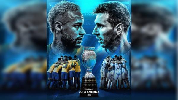 نیمار و مسی,فینال کوپا آمریکا 2021