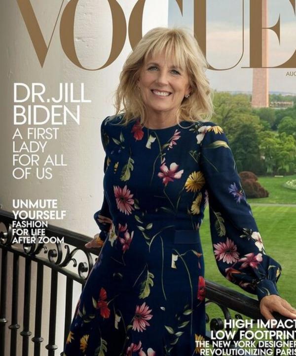 تمسخر همسر جو بایدن توسط خانواده ترامپ,همسر جو بایدن بر روی مجله ووگ