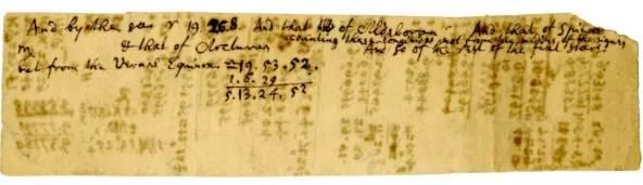 نیوتن,دست نوشته