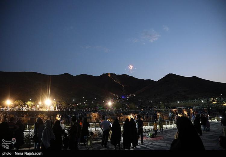 تصاویر بزرگترین آبشار مصنوعی ایران,عکس های افتتاح پروژه کوهشار,تصاویر افتتاح آبشار مصنوعی کوهشار