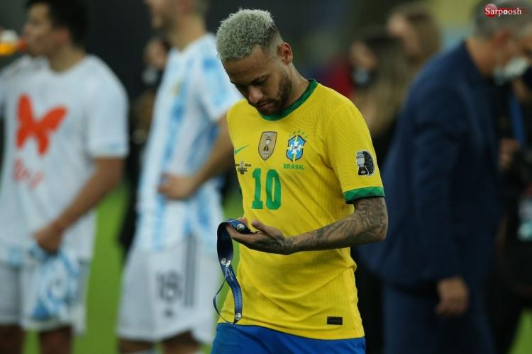 تصاویر دیدار تیم ملی آرژانتین و برزیل,تصاویر فینال کوپا آمریکا 2021,عکس های لیونل مسی و نیمار در فینال کوپا آمریکا 2021