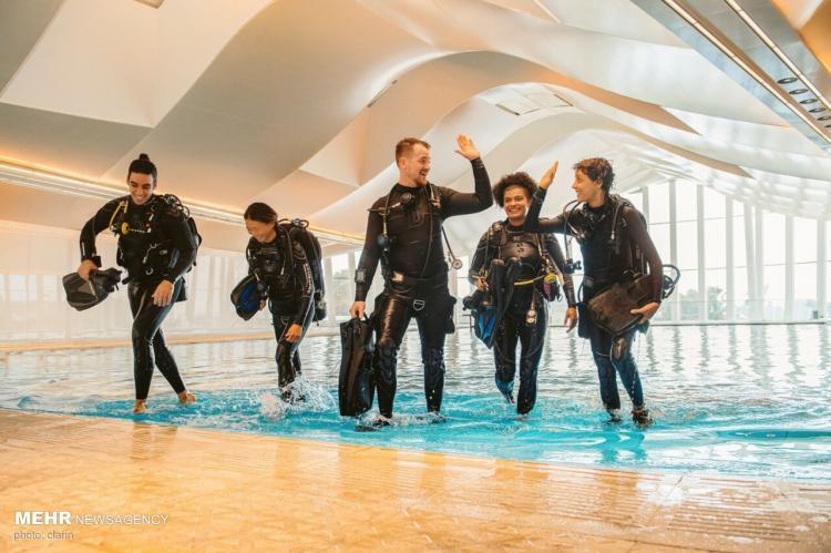 تصاویر عمیقترین استخر غواصی جهان,عکس های استخر غواصی جهان,تصاویر عمیق ترین استخر در دبی