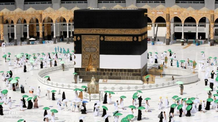 تصاویر مراسم حج بدون حضور زائران کشورهای مسلمان,عکس های مراسم حج,تصاویر مراسم حج 1400