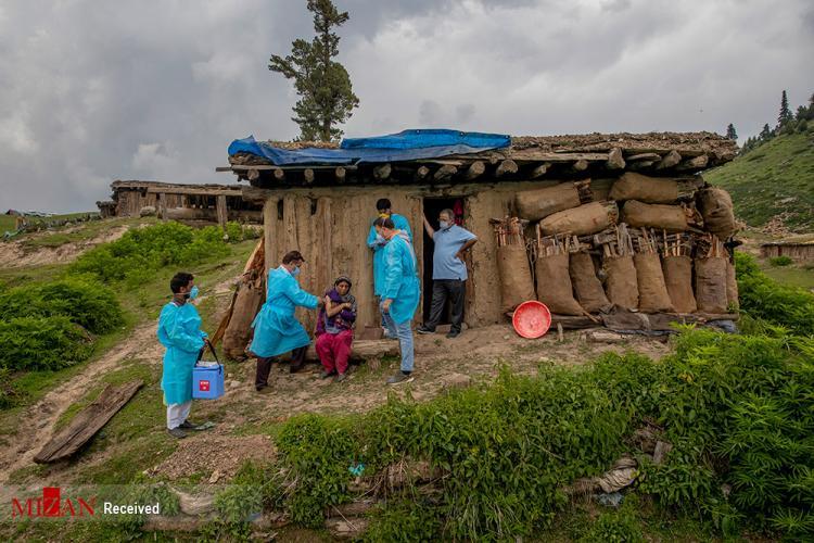 تصاویر واکسیناسیون عشایر کشمیر,عکس های تزریق واکسن به عشایر,تصاویر واکسن زد نبه عشایر در کشمیر