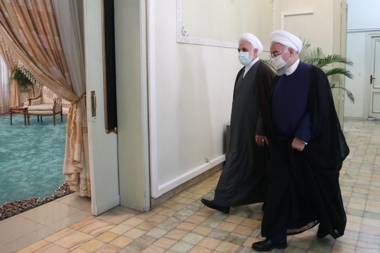 تصاویر دیدار حسن روحانی با غلامحسین محسنی اژهای رئیس جدید قوه قضائیه,عکس های دیدار روحانی و محسنی اژهای,تصاویر دیدار رئیس جمهور و محسنی اژهای