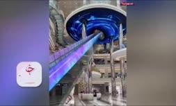 فیلم/ طراحی عجیب و دیدنی یک پله برقی در چین