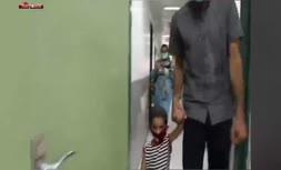 فیلم/ لحظهای احساسی از واکنش کودکی ناشنوا وقتی صدای مادرش را برای اولینبار میشنود