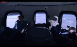 فیلم/ معلق شدن جف بزوس و همراهانش درون کپسول «بلو اوریجین»