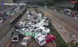 فیلم/ تصاویر هوایی از شهر سیل زده «ژنگجو» چین؛ افزایش قربانیان به 33 نفر