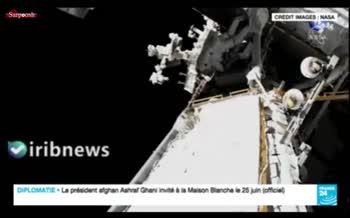 فیلم/ لحظه خروج فضانورد فرانسوی از ایستگاه فضایی برای نصب پنل خورشیدی