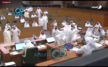فیلم/ درگیری نمایندگان مجلس کویت