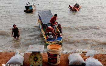 تصاویر استخراج سنگ قلع از دریا,عکس های استخراج سنگ از دریا,تصاویر استخراج سنگ در اندونزی