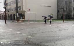 تصاویر بارش شدید باران و سیلاب در ژاپن,عکس های سیل در ژاپن,تصاویر سیل ژاپن