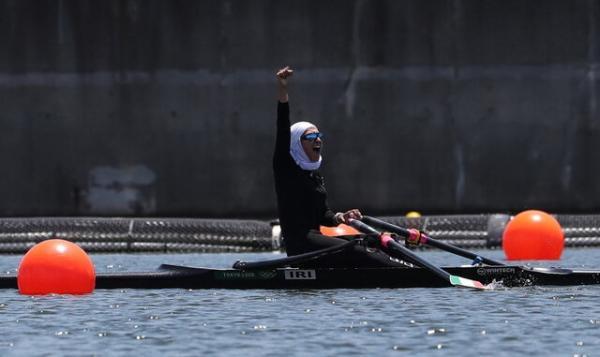 نازنین ملایی,رقابت های قایقرانی روئینگ المپیک توکیو