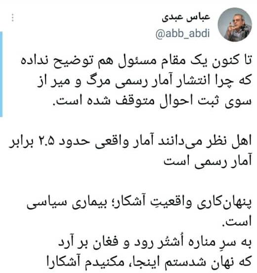 فوتی های کرونا در ایران,آمار کرونا
