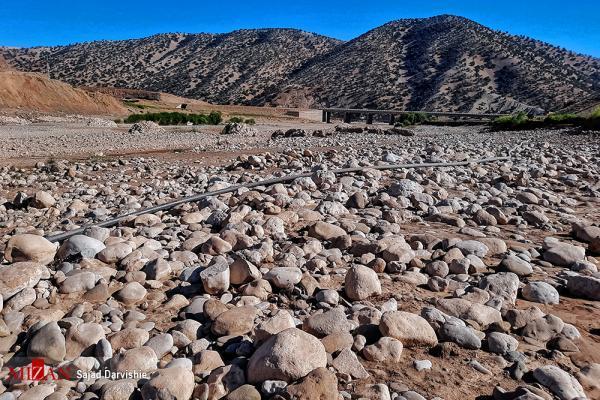 رودخانه کشکان,تصاویر خشک شدن رودخانه کشکان
