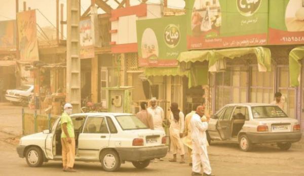 گرد و غبار و دمای هوای خوزستان ,وضع هوا