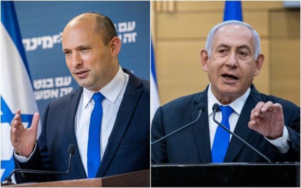 «نفتالی بنت» نخستوزیر فعلی و «بنیامین نتانیاهو» نخستوزیر پیشین اسرائیل,اخبار اسارئیل