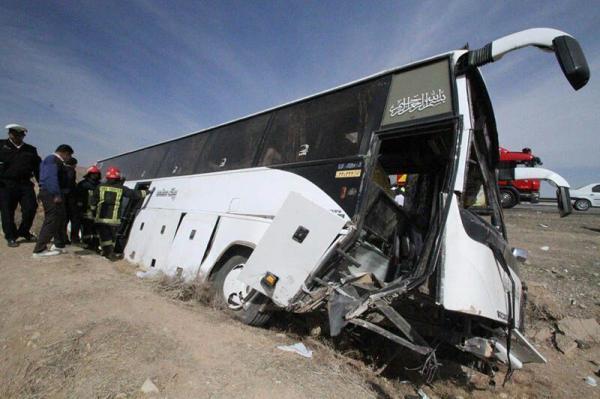 واژگونی اتوبوس در جاده سمنان,حوادث سمنان