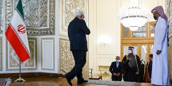 سفر وزیر خارجه قطر به تهران,دیدار ظریف و شیخ محمد بن عبدالرحمن آل ثانی