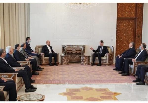 دیدار قالیباف با بشار اسد در دمشق,دیدار رئیس مجلس و رئیس جمهور سوریه