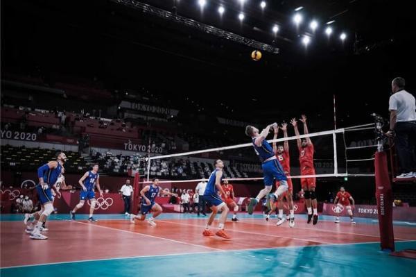 دیدار تیم ملی والیبال ایران و ایتالیا,والیبال المپیک 2020 توکیو