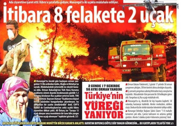 آتش سوزی در ترکیه,ترکیه