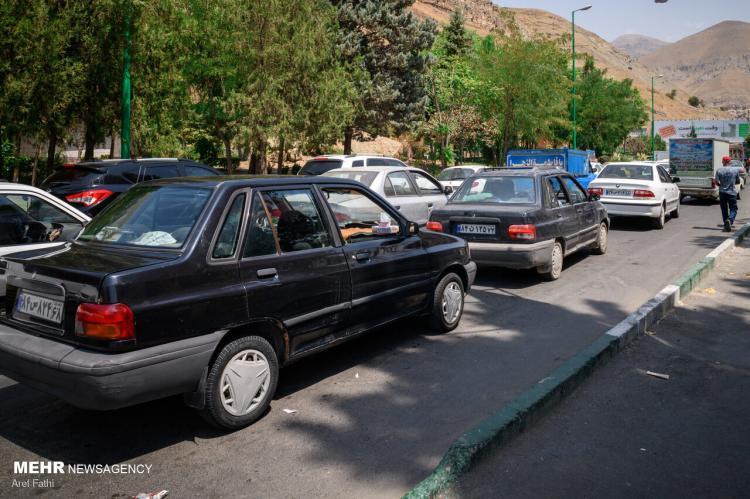 تصاویر اولین ساعات بسته شدن جاده چالوس,عکس های بست هشدن جاده چالوس,تصاویری از مسدود شدن جاده چالوس