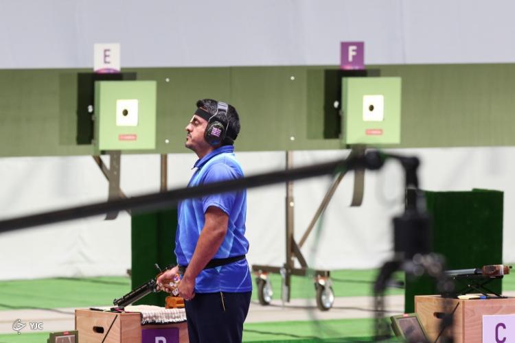 تصاویر مدال طلای جواد فروغی در مسابقات تیراندازی,عکس های المپیک 2020,تصاویر مسابقات تیراندازی المپیک توکیو