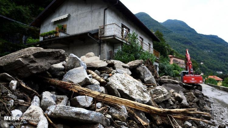 تصاویر رانش زمین در پی وقوع سیل در ایتالیا,عکس های سیل در ایتالیا,تصاویر رانش زمین در ایتالیا