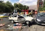 تصادفات در ایران,مرگ دلخراش راننده پراید حامل گوشت