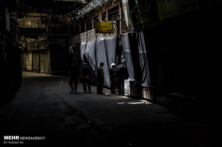 تصاویر تعطیلی ۶ روزه بازار و اصناف تهران در موج پنجم کرونا,عکس های تعطیلی بازار تهران,تصاویر محدودیت های کرونایی و تعطیلی در تهران