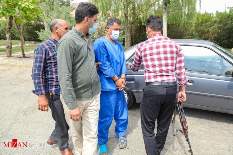 تصاویر بازسازی صحنه قتل در سنندج,عکس های صحنه قتل در سنندج,تصاویر بازسازی صحنه قتل در محله حاجی آباد سنندج