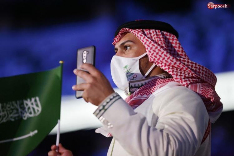 تصاویر مراسم افتتاحیه المپیک 2020,عکس های مراسم افتتاحیه المپیک توکیو,تصاویر کاروان ایران در المپیک توکیو