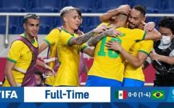نیمه نهایی مسابقات فوتبال المپیک 2020,برزیل مکزیک