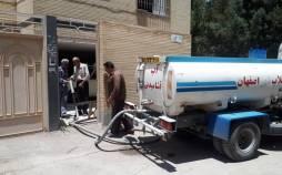 بی آبی در اصفهان,آبرسانی با تانکر در اصفهان