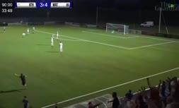 فیلم   گل دیدنی از روی نقطه وسط زمین فوتبال