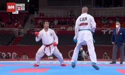 فیلم   پیروزی سجاد گنجزاده برابر حریف کانادایی و صعود به نیمه نهایی کاراته المپیک2020