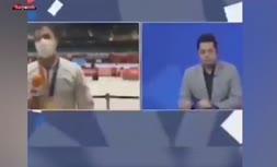 فیلم/ سانسور صحبتهای گنجزاده پس از اهدای مدالش به مردم خوزستان