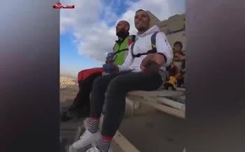 ویدیویی از ارشا اقدسی در کنار محمد بزرگی چترباز معروف ایران