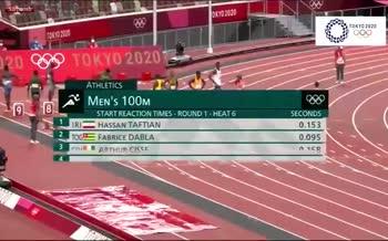 فیلم/ مسابقه حسن تفتیان در دوی 100 متر المپیک توکیو